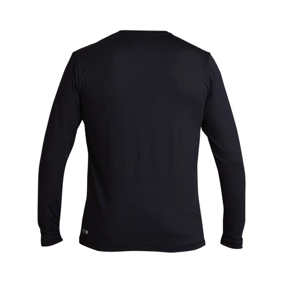 Quiksilver Waterman Men's Green Room Long Sleeve Rash Vest, Black, bcf_hi-res