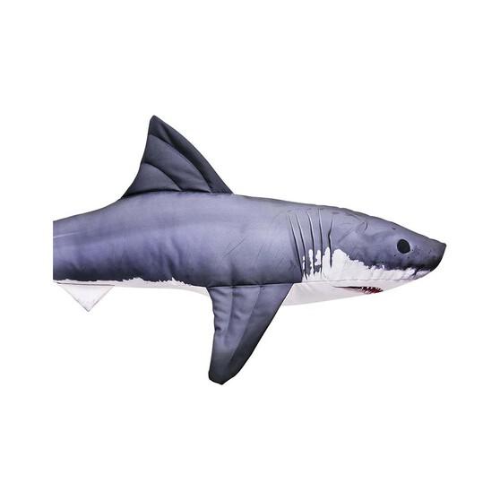 Gaby Fish Pillow Great White Shark 120cm, , bcf_hi-res