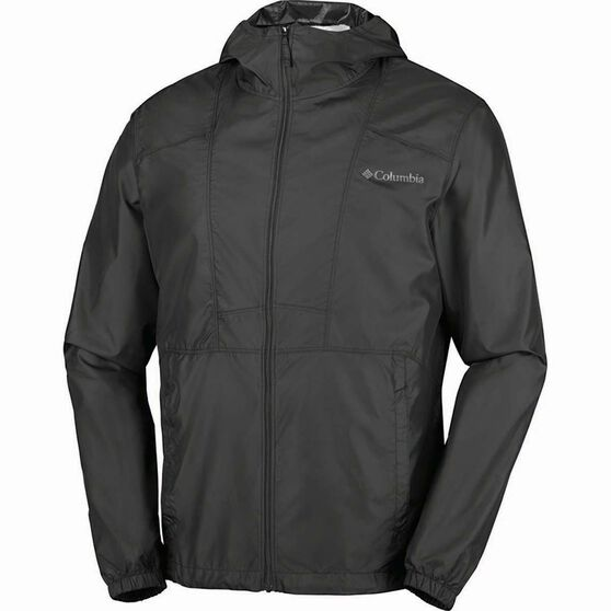 Columbia Men's Flashback Windbreaker Jacket, Black, bcf_hi-res