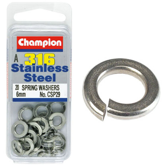 Champion Spring Washers - 6mm 6mm, , bcf_hi-res