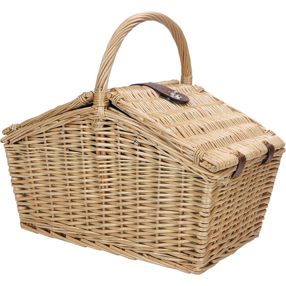 Wanderer Wicker Picnic Basket 4 Person Bcf