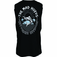 The Mad Hueys Men's Can Crusher UV Muscle Tank Black S, Black, bcf_hi-res
