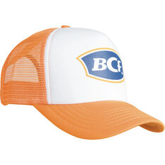 3c6f4631 BCF Unisex Trucker Cap White / Orange OSFM, White / Orange, ...