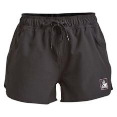 The Mad Hueys Women's Signal Pool Shorts Black XS, Black, bcf_hi-res