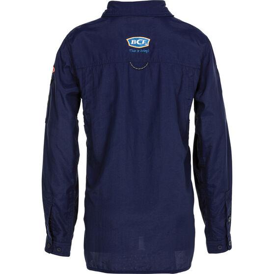 BCF Kids' Long Sleeve Fishing Shirt Navy 5, Navy, bcf_hi-res
