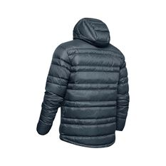 Under Armour Men's Armour Down Hooded Jacket Wire / Black S, Wire / Black, bcf_hi-res