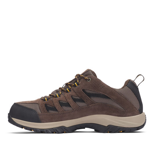 Columbia Men's Crestwood Low Waterproof Hiking Shoes, Mud / Squash, bcf_hi-res
