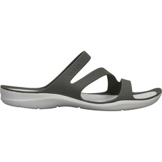 Crocs Women's Swiftwater Sandals Smoke / White W7, Smoke / White, bcf_hi-res