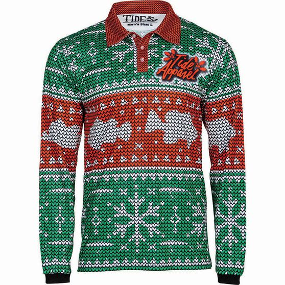 Tide Apparel Men's Fishmas Fishing Jersey, , bcf_hi-res