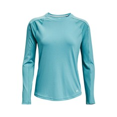 Under Armour Women's Isochill Shorebreak Camo Fill Long Sleeve Sublimated Shirt Cosmos / Breeze S, Cosmos / Breeze, bcf_hi-res