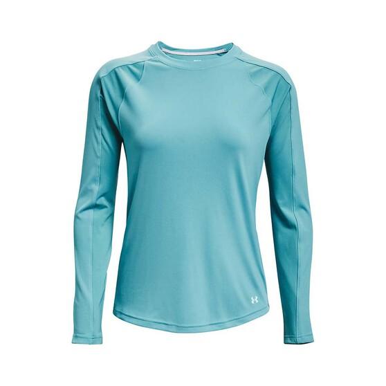 Under Armour Women's Isochill Shorebreak Camo Fill Long Sleeve Sublimated Shirt, Cosmos / Breeze, bcf_hi-res