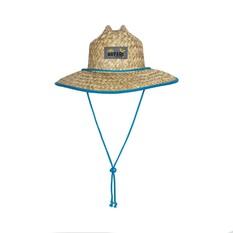 Savage Gear Youth Straw Hat Natural / Blue 52, Natural / Blue, bcf_hi-res