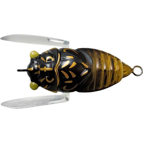 Tiemco Cicada II Bass Tune Surface Lure 35mm Black Gold, Black Gold, bcf_hi-res