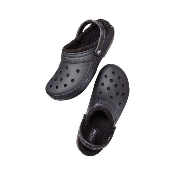 Crocs Classic Lined Clog - Unisex, Black/Black, 7, Black, bcf_hi-res