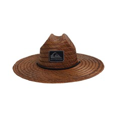 Quiksilver Waterman Men's The Tier Straw Hat, Dark Brown, bcf_hi-res