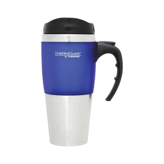 Thermos Thermocafe Travel Mug 450ml Blue, Blue, bcf_hi-res