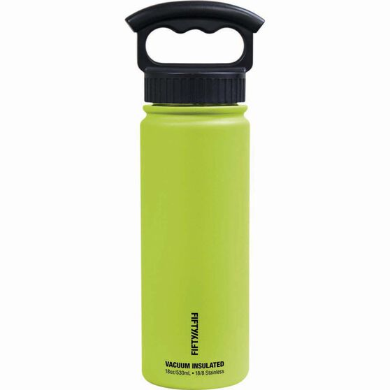 Fifty Fifty Insulated Drink Bottle 530ml Lime, Lime, bcf_hi-res