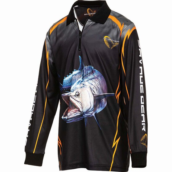 Savage Kids' Spanish Mack Sublimated Polo, Black, bcf_hi-res