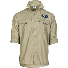 BCF Men's Long Sleeve Fishing Shirt Silt S, Silt, bcf_hi-res