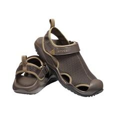 Crocs Mens Swiftwater Sandal Espresso 7, Espresso, bcf_hi-res