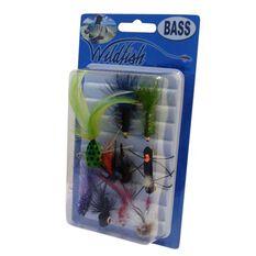 Wildfish Bass Flies 10 Pack, , bcf_hi-res