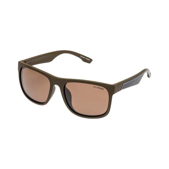 Fish Men's Tailor Polarised Sunglasses Khaki / Brown Lens, , bcf_hi-res