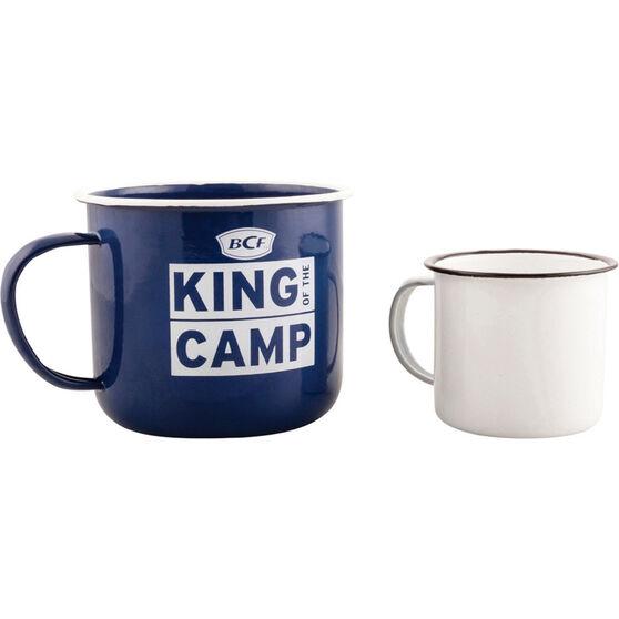King of the Camp Mansize Enamel Mug 1100ml, , bcf_hi-res