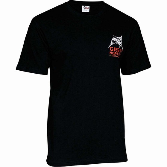 The Great Northern Brewing Co. Men's Classic Tee, Black, bcf_hi-res