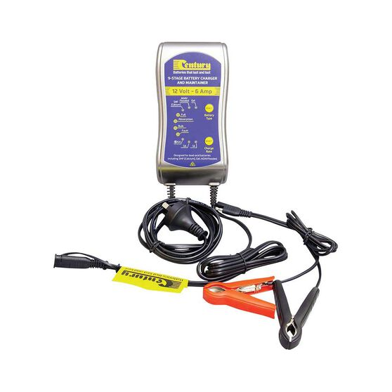 Century 12V 1/3/6 Amp 9 Stage Battery Charger, , bcf_hi-res