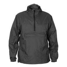 Men's 1/2 Zip Packaway Jacket Black XS, Black, bcf_hi-res