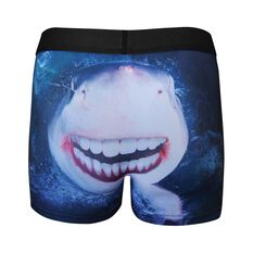Tradie Mens Smiling Shark Trunk, , bcf_hi-res