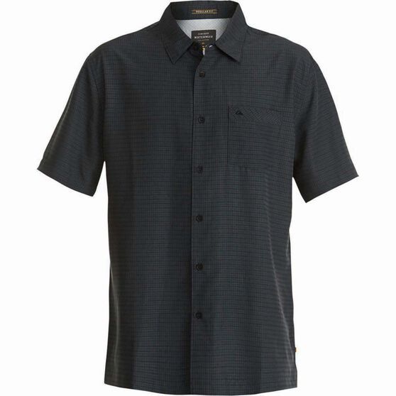 Quiksilver Men's Centinela 4 Regular Fit Shirt, Black, bcf_hi-res