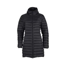 Macpac Womens Uber Light Long Jacket Black 8, Black, bcf_hi-res