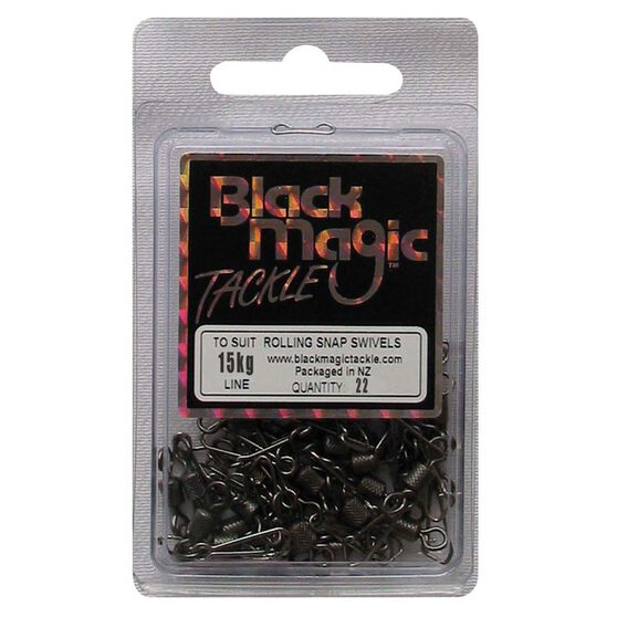Black Magic Rolling Snap Swivel 22 Pack, , bcf_hi-res
