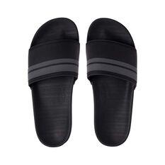 Quiksilver Waterman Men's Rivi Slide Black / Grey 8, Black / Grey, bcf_hi-res