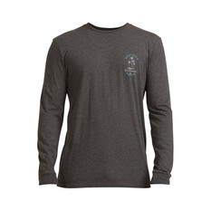 Quiksilver Men's Future Dust Long Sleeve Tee Charcoal Heather S, Charcoal Heather, bcf_hi-res