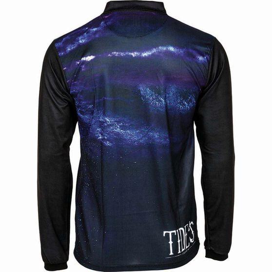 Tide Apparel Men's Jellyfish Sublimated Polo Black / Navy L, Black / Navy, bcf_hi-res