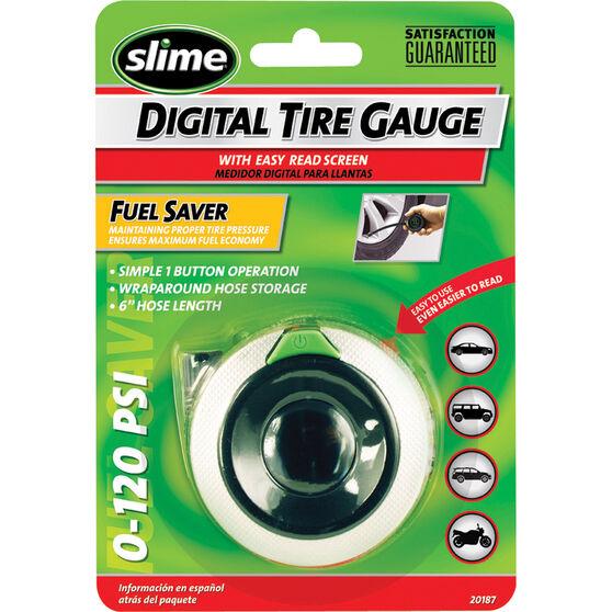 Slime Digital Tyre Gauge w / Flexible Hose - 0-120 PSI, , bcf_hi-res