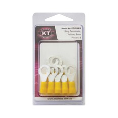KT Cables Insulated Ring Terminal Yellow 6.0, , bcf_hi-res