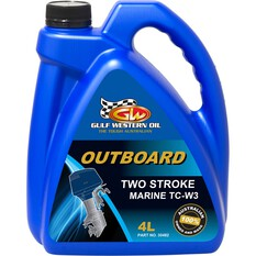 Gulf Western TC-W3 2 Stroke Outboard Engine Oil 4 Litre, , bcf_hi-res