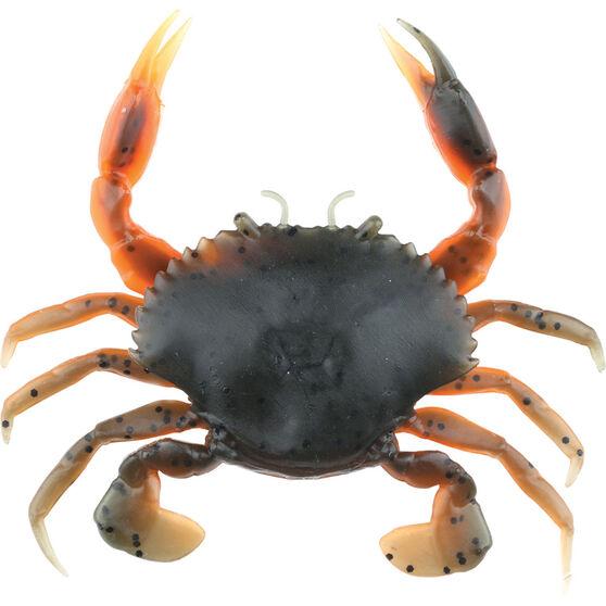 Savage 3D Manic Crab Soft Plastic Lure 7.5cm Orange / Black / Yellow, Orange / Black / Yellow, bcf_hi-res