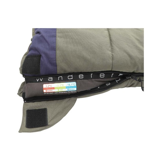 Wanderer Grand Macquarie +3.2C Cotton Camper Sleeping Bag, , bcf_hi-res