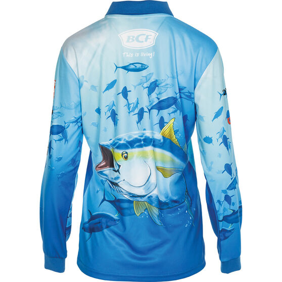 BCF Women's Tuna Sublimated Polo Blue 18, Blue, bcf_hi-res