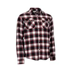 Outrak Men's Flannel Shirt Red / Black S, Red / Black, bcf_hi-res