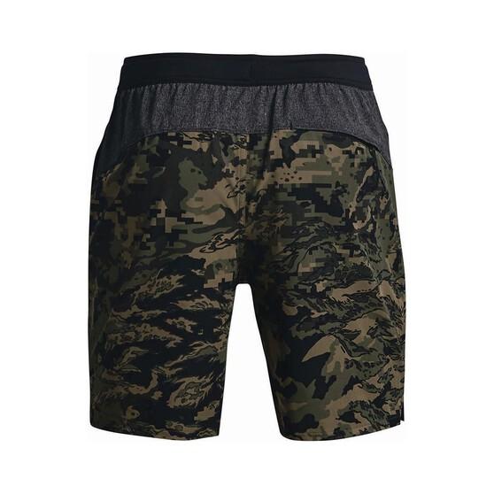 Under Armour Men's Shorebreak 2-in-1 Amphibian Boardshorts, Marine Green / Black, bcf_hi-res