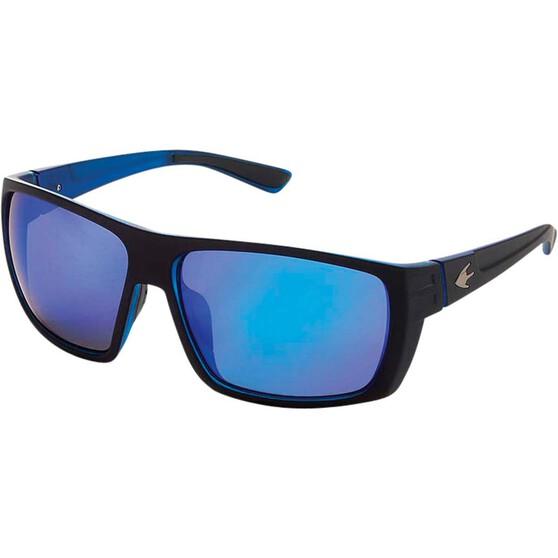 Stingray Barb Polarised Sunglasses Black with Blue Lens, Black / Blue Lens, bcf_hi-res