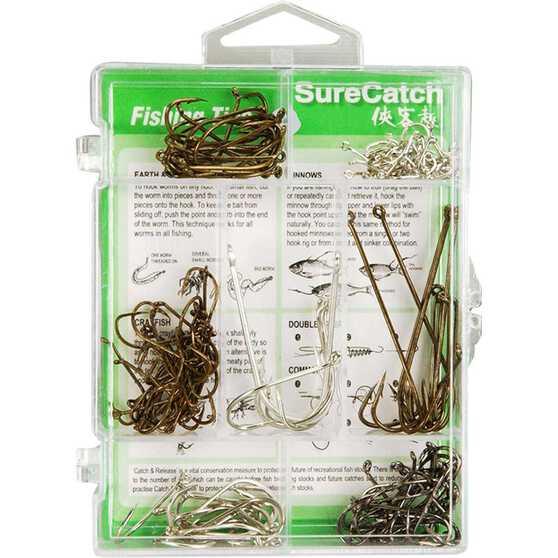 Surecatch Assorted Hooks 140 Pieces, , bcf_hi-res