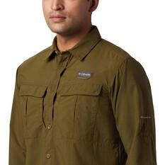 Columbia Men's Cascade Explorer Long Sleeve Shirt, New Olive, bcf_hi-res