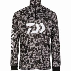 Daiwa Men's Tatula Sublimated Polo Black Camo S, Black Camo, bcf_hi-res