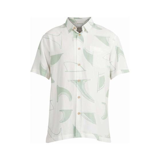 Quiksilver Men's Fin Drop Short Sleeve Shirt, Harbour Grey, bcf_hi-res